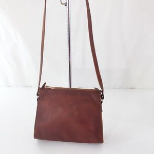 Vintage Northern Reflections Leather Crossbody Bag